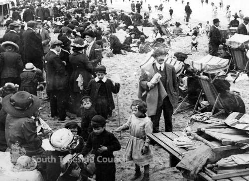 Crowds at North Beach