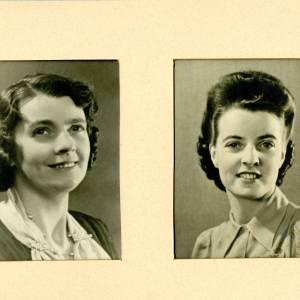 Edith Lillian Healey (nee Longhurst), left portrait