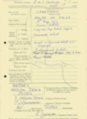 RMC Form 18A Personal Detail Sheets Feb & Sept 1933 Intake - page 232