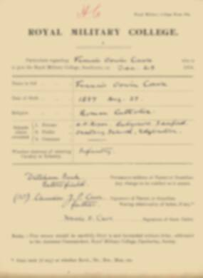 RMC Form 18A Personal Detail Sheets Jan 1915 Intake - page 80