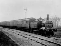 District Railway train from Wimbledon Park to Wimbledon