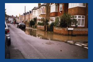 Flooding in Rutland Road, Colliers Wood