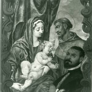 G36-213-09 Painting of Virgin & Child with nobleman and saint, in a cartouche.jpg