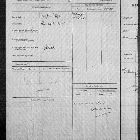 Record of Officers' Services 2 - Wilfrid Davis