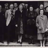 Photograph - group of people outside Gaiety Theatre - 1939