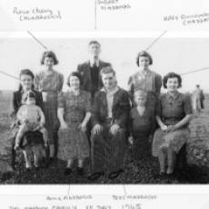1945 The Maddocks Family Together on VE Day