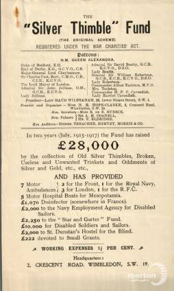 The Silver Thimble Fund