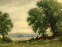 "J A Crawford: ""Hilly Fields, looking towards Carshalton"""