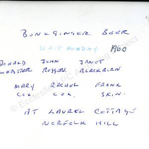 Laurel Cottage Grenoside Whit Monday 1960 (Overleaf)