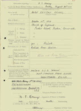 RMC Form 18A Personal Detail Sheets Aug 1935 Intake - page 122