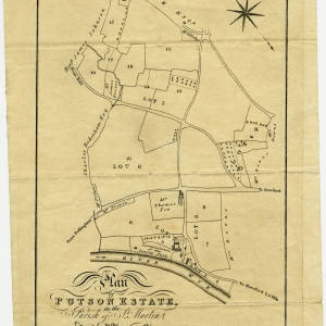 Plan of Putson Estate in the Parish of St. Martins in the County of Hereford 1805