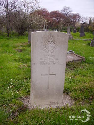 Gravestone of Robert G H Caie