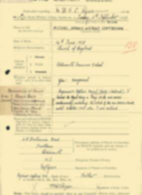 RMC Form 18A Personal Detail Sheets Feb & Sept 1933 Intake - page 278