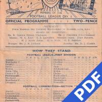 19480821 Official Programme Bristol Rovers Home FC