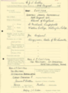 RMC Form 18A Personal Detail Sheets Aug 1935 Intake - page 52