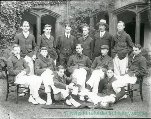 G36-205-03 Hereford Cathedral School cricket team in cloisters.jpg