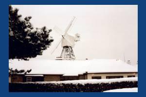 Wimbledon windmill under snow