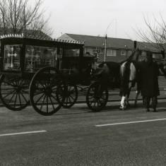 Hearse in Argyle Street, Hebburn.