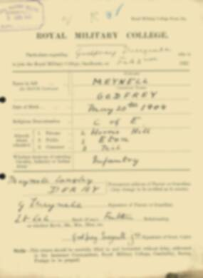 RMC Form 18A Personal Detail Sheets Feb & Sept 1922 Intake - page 98