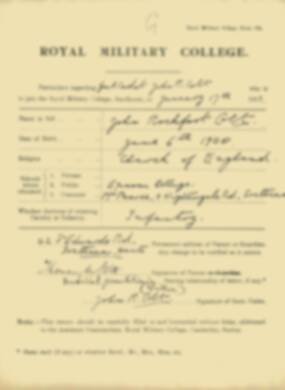 RMC Form 18A Personal Detail Sheets Jan-Sept 1919 - page 13