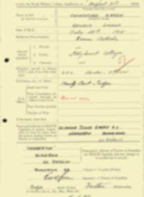 RMC Form 18A Personal Detail Sheets Aug 1934 Intake - page 41