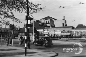 Fair Green, Mitcham: looking towards Majestic cinema