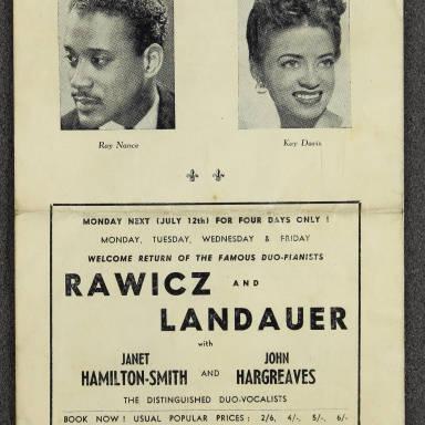 Duke Ellington, Ray Nance & Kay Davis British Tour 1948 002