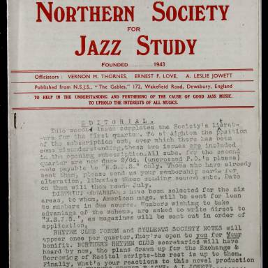 Northern Society For Jazz Study Vol.1 No.2 0001