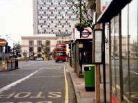Morden Underground Station and bus stops