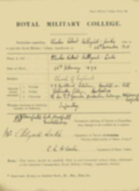 RMC Form 18A Personal Detail Sheets Nov 1915 Intake - page 7