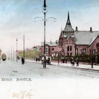 Early postcard, Stanley Road, Bootle, 1904