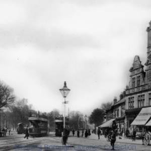 London Road, Reading, looking westwards from Cemetery Junction, c1913