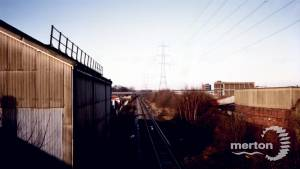 Morden Road Station, Rail Line from Wooden Bridge, Church Path