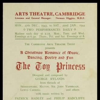 Arts Theatre of Cambridge, December 1942 - January 1944
