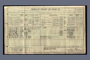 1911 Census - 77 High Street, Wimbledon