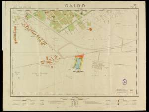 Dept of Survey & Mines map - Cairo, Egypt
