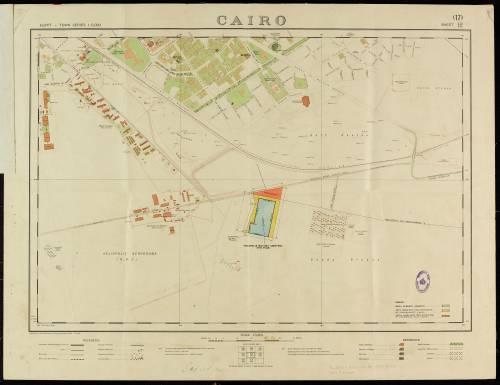 Dept of Survey & Mines map - Cairo, Egypt
