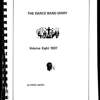 Dance Band Diaries Volume 8 1937