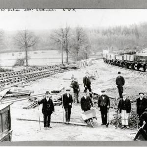 Ballingham Railway Station under Construction, 1900s
