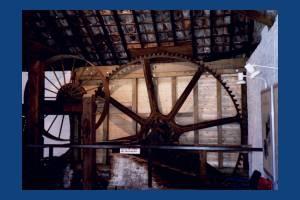 Liberty Print Works: Former waterwheel mechanism