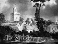 Mitcham Church before being pulled down in 1819