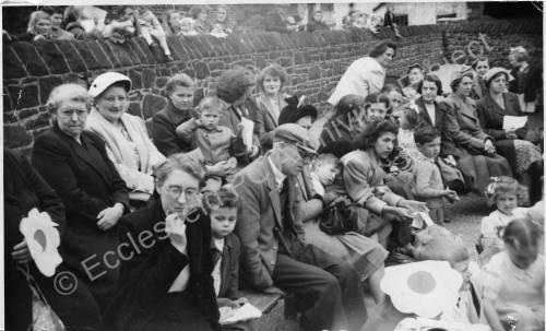 Grenoside Junior and Infant School spectators 1950's 03.