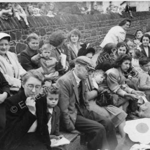 Grenoside Junior and Infant School spectators 1950's 03.