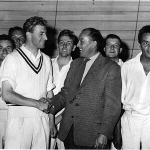 Hereford City Sports Club cricketers celebrating.