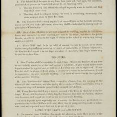 Rules for the Government of the Sunday School