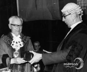 Cllr William Lancaster Mayor of Mitcham