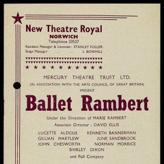 New Theatre Royal, Norwich, September 1962
