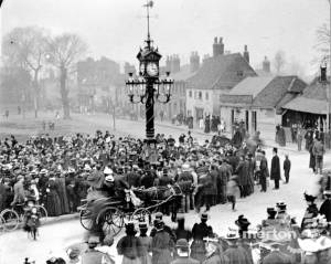 Unveiling of Mitcham Clock Tower, Upper Green