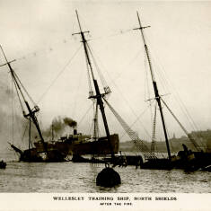 The Training Ship Wellesley After the Fire