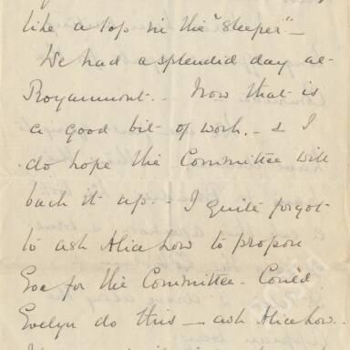 Elsie Inglis to Amy Inglis Simson, April 1915 (Part 2)